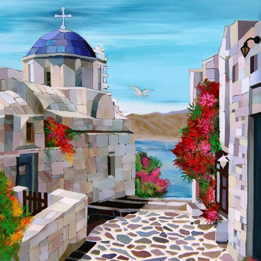 a frame of Santorini