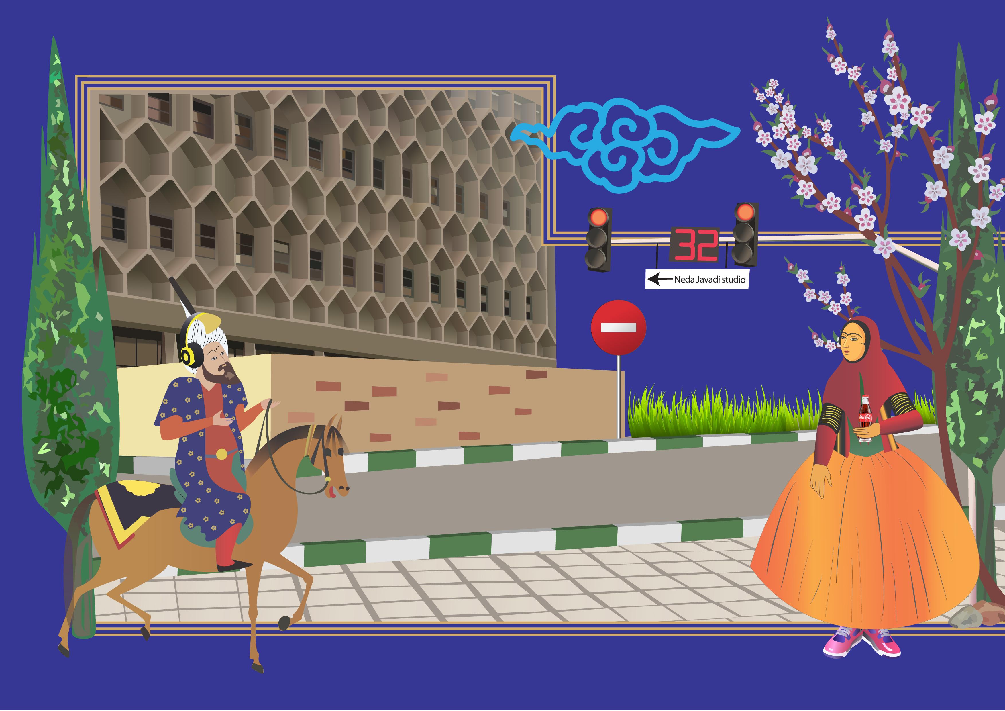 تصویرسازی شیرین و فرهاد در تهران