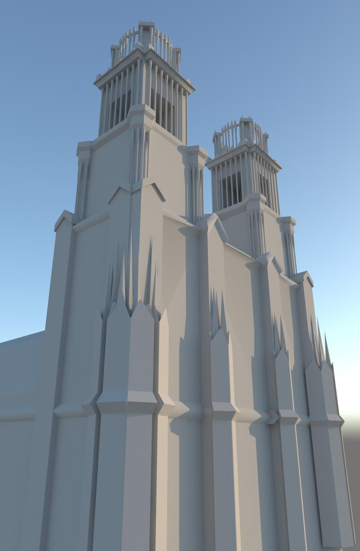 catholic church 3d model