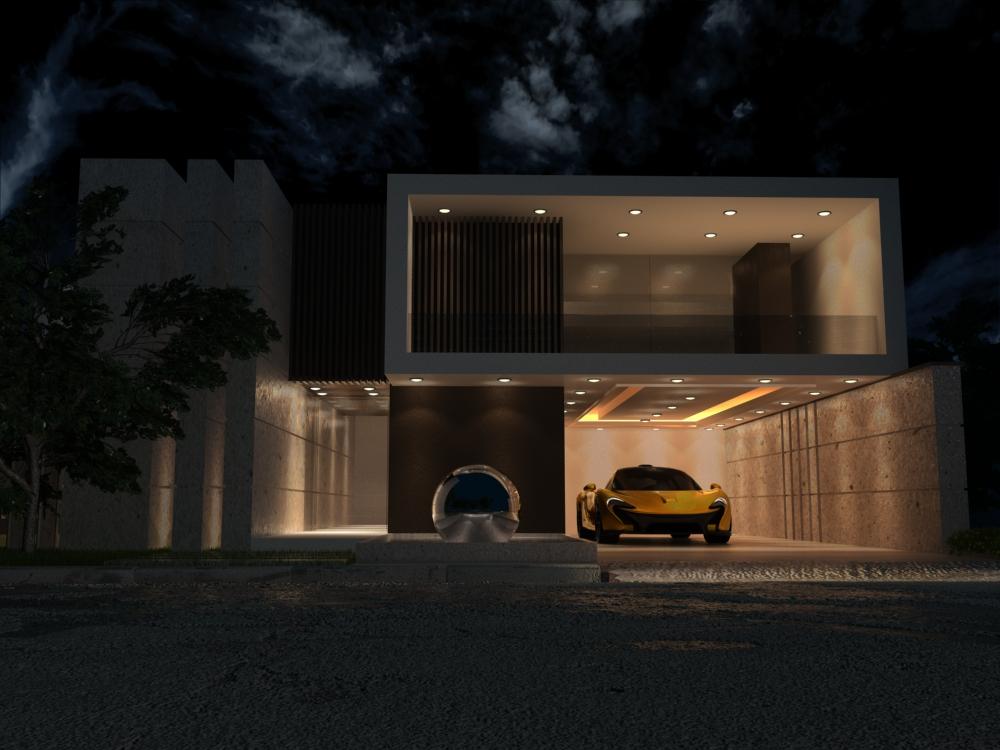 Exterior Modeling - Night Light
