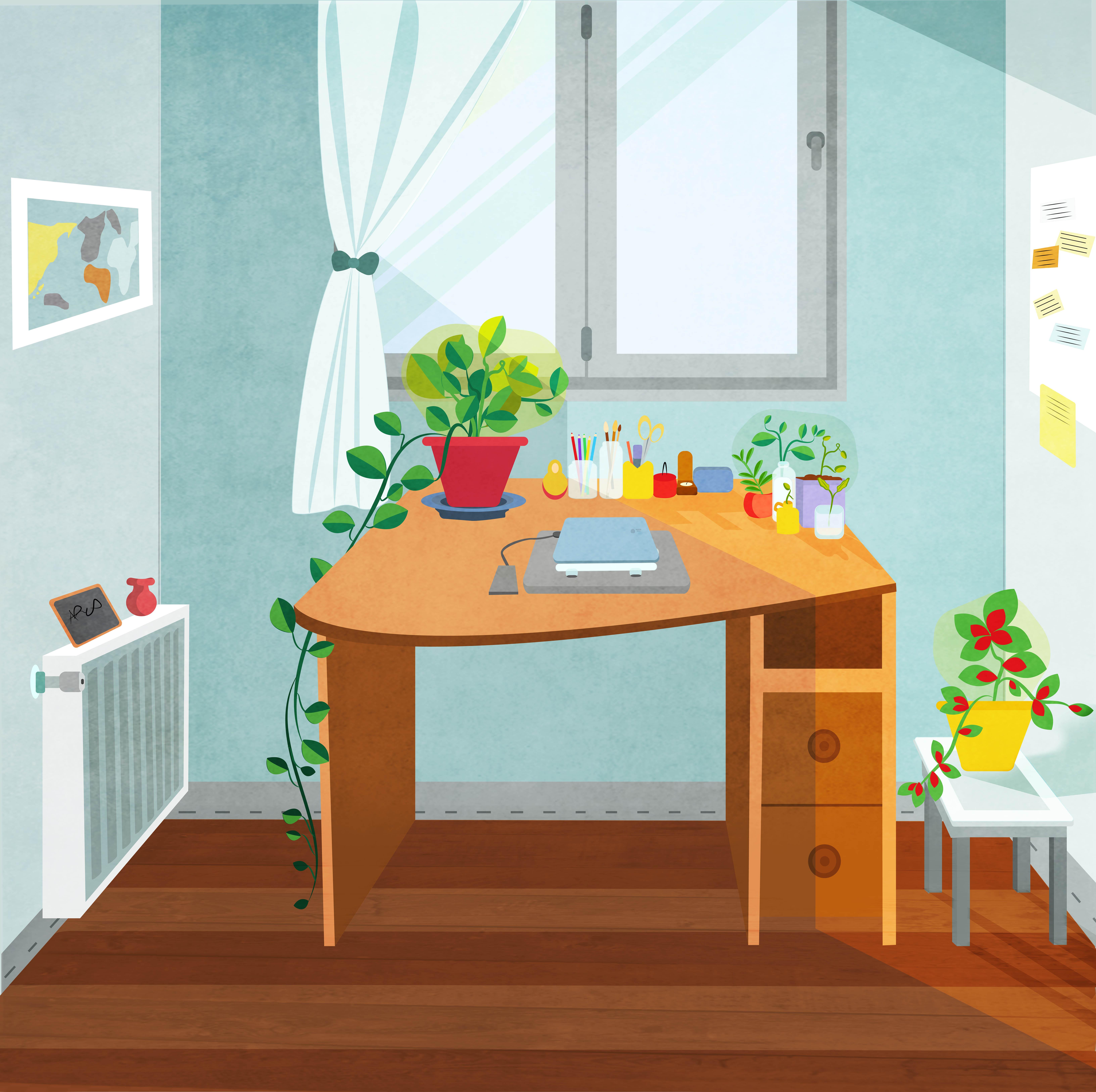 تصویرسازی میزکار