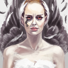 Black swan portrait speedpaint