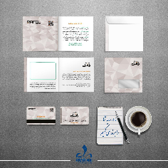 کارت Vip-کاغذ 2 لت -پاکت-موکاپ