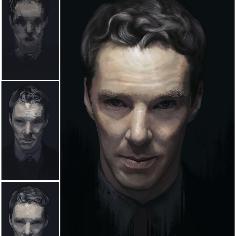 light,study ,on portrait