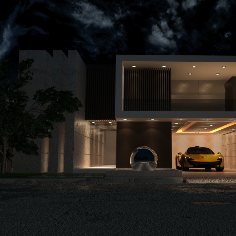Exterior Modeling - Night Light