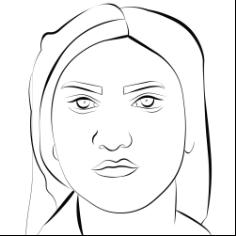 farzane hasanzade. lineart portrait