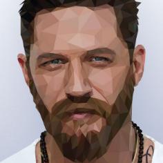 TomHardy_LowPoly_Portrait