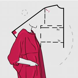 الگو و دوخت پوشاک زنانه به روش مولر (ضخیم دوزی)