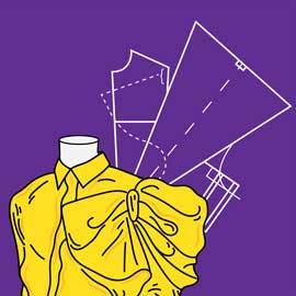 الگو و دوخت پوشاک زنانه به روش مولر (نازک دوزی)
