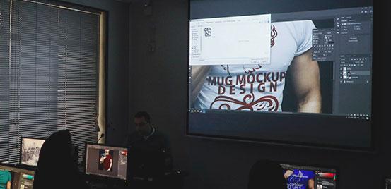 گزارش ورکشاپ ساخت Mockup در Photoshop