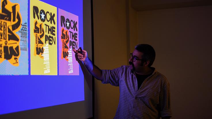 گزارش کارگاه «فارسی بازی، طراحی پوستر با حروف فارسی»