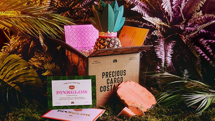 طراحی هویت آناناس Pinkglow توسط آژانس برندینگ Born & Bred